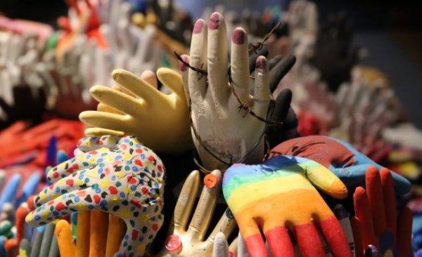Kunstwerk 1000 handen